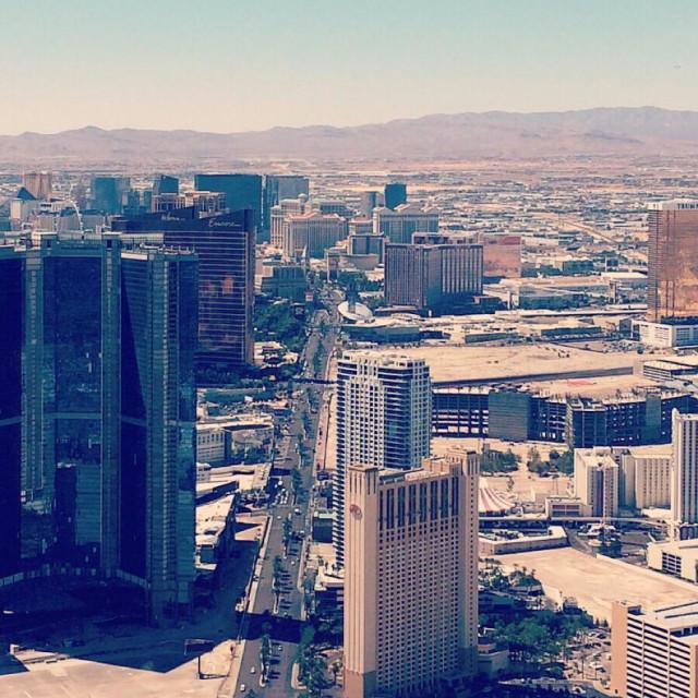 """Arial view, Las Vegas"" stock image"