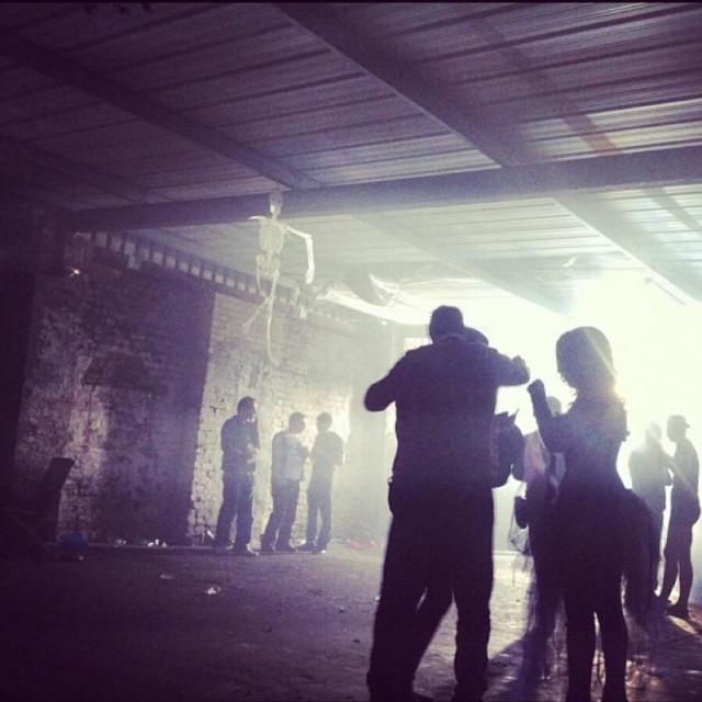"""""""Warehouse rave"""" stock image"""