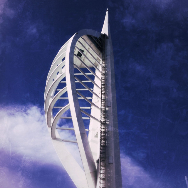 """Spinnaker Tower, Portsmouth, Hampshire, England, United Kingdom"" stock image"