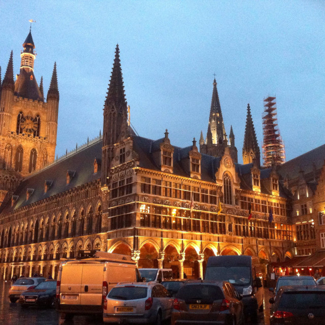 """""""Cloth Hall of Ypres, West Flanders, Belgium."""" stock image"""