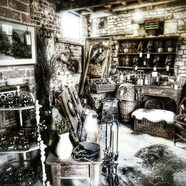 """""""Antiques"""" stock image"""