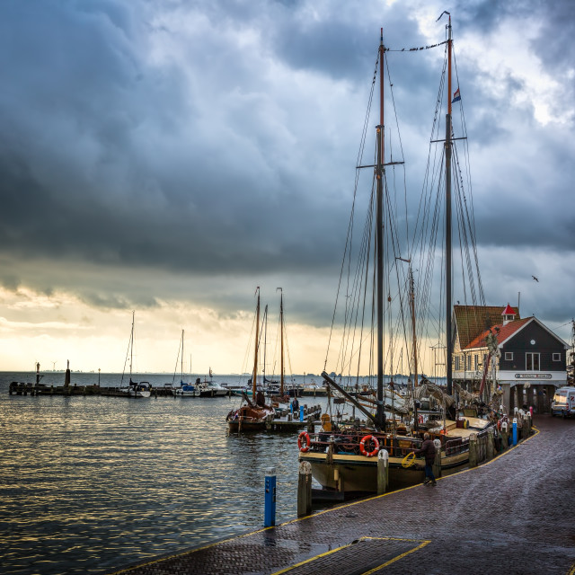 """Fishing Village Storm"" stock image"