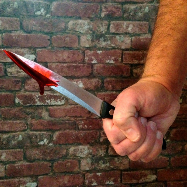 """""""Bloodied knife"""" stock image"""