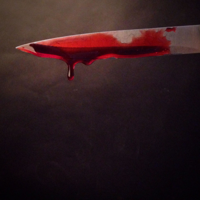 """""""Knife dripping blood"""" stock image"""