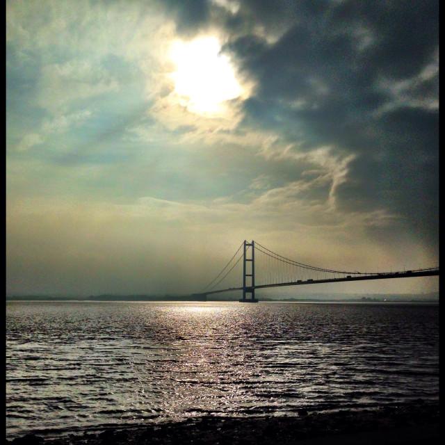 """Humber Bridge. East Yorkshire."" stock image"