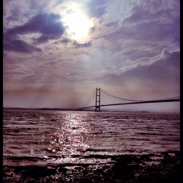 """Humber Bridge. East Yorkshire"" stock image"