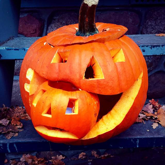 """""""Pumpkin cannibal"""" stock image"""