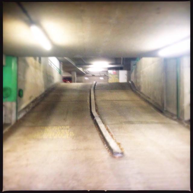 """Underground car park"" stock image"