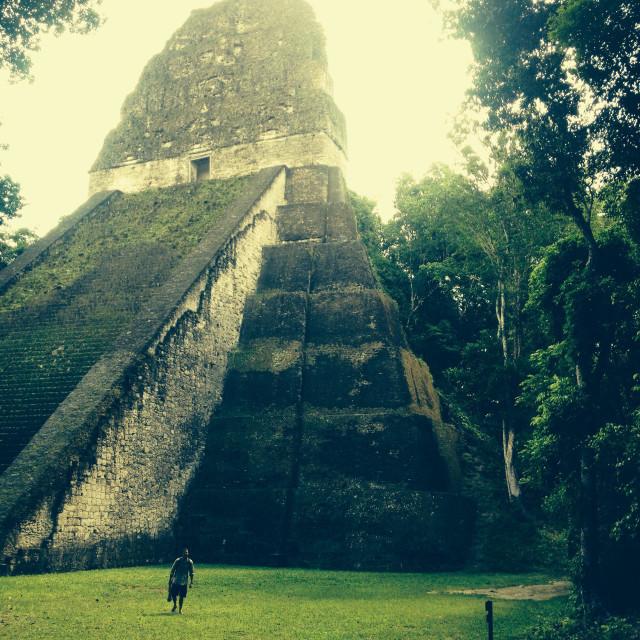 """""""Taken in Tikal Mayan ruins."""" stock image"""