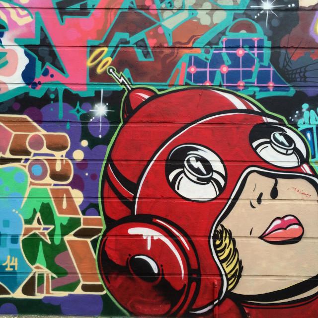 """Graffiti at Brick Lane, London"" stock image"