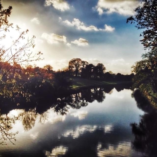 """Kennet & Avon canal at Kintbury"" stock image"