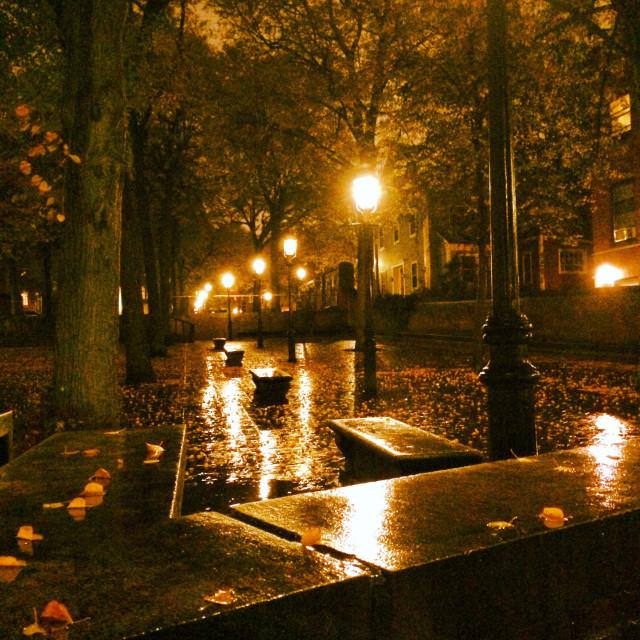 """Charlestown, Boston in Autumn"" stock image"