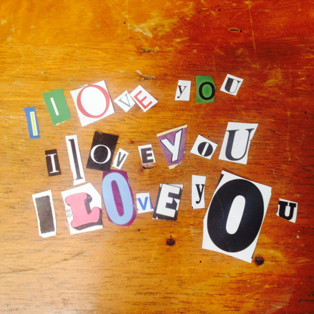 """""""I love you"""" stock image"""
