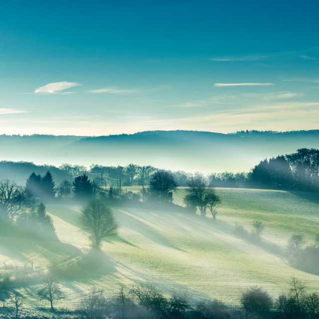 """Misty morning"" stock image"