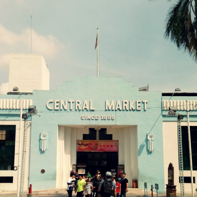 """""""Stand tall : Central Market a.k.a Pasar Seni"""" stock image"""