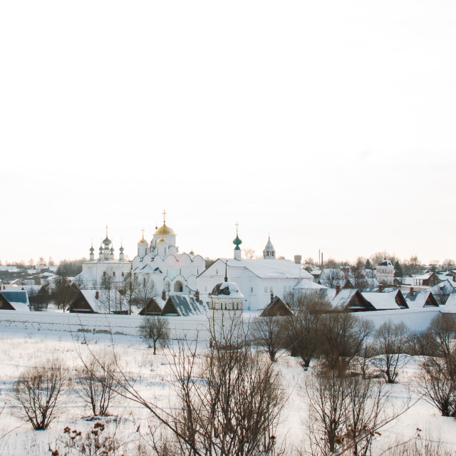 """""""Pokrovskiy monastery in Suzdal"""" stock image"""