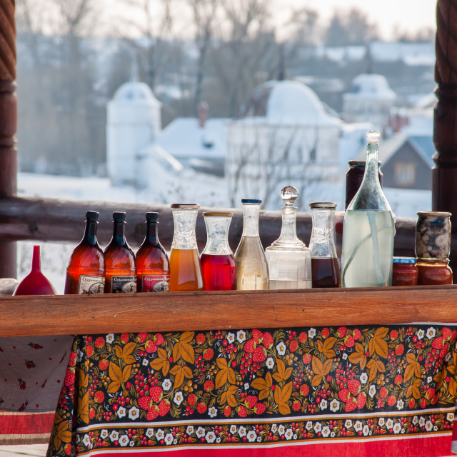 """""""Traditional Russian winter drinks"""" stock image"""