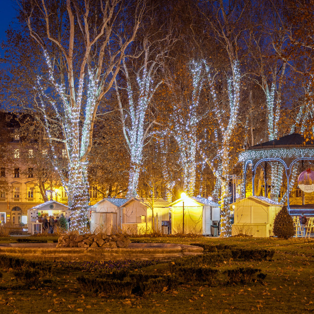 """Zagreb photo shot at Advent time"" stock image"