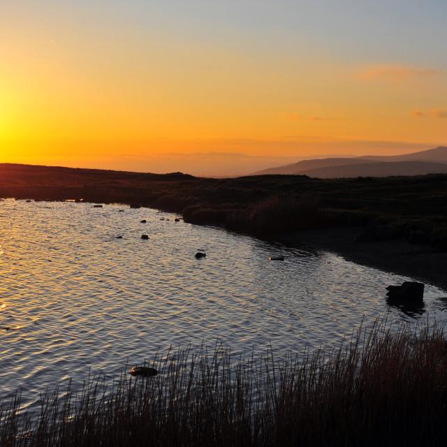 """""""Lake sunrise"""" stock image"""