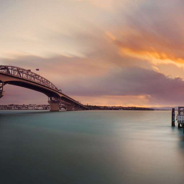 """Harbor Bridge Auckland New Zealand"" stock image"