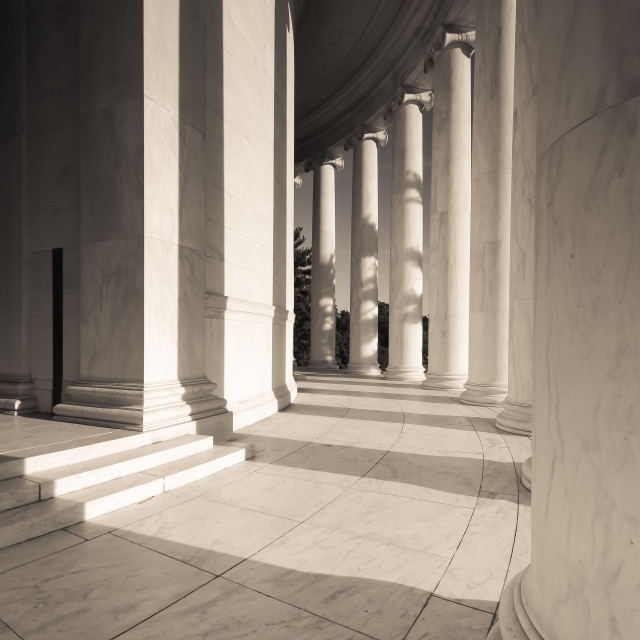 """Jefferson Columns"" stock image"