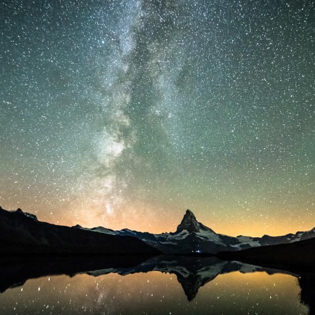"""Stellisee at night"" stock image"