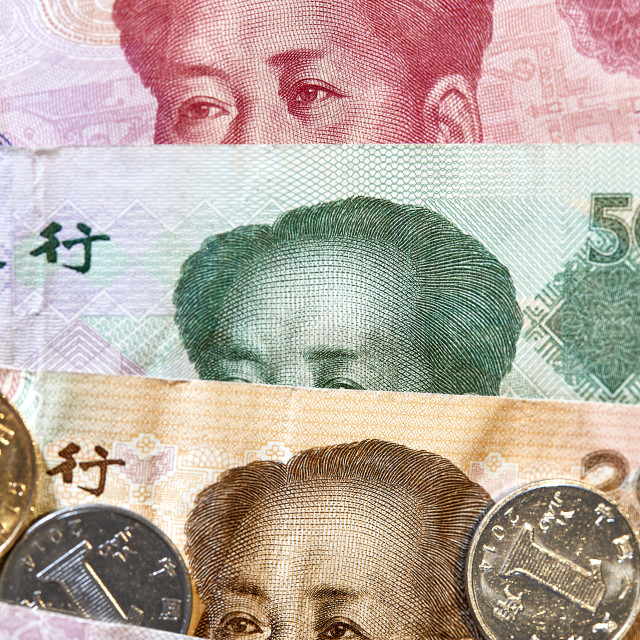 """Chinese Money RMB CNY Yuan Mao"" stock image"