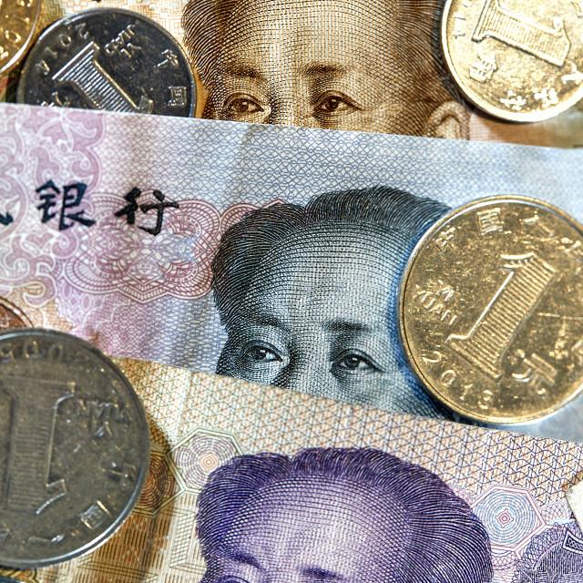 """Chinese Money RMB CNY Yuan Mao"" stock image"