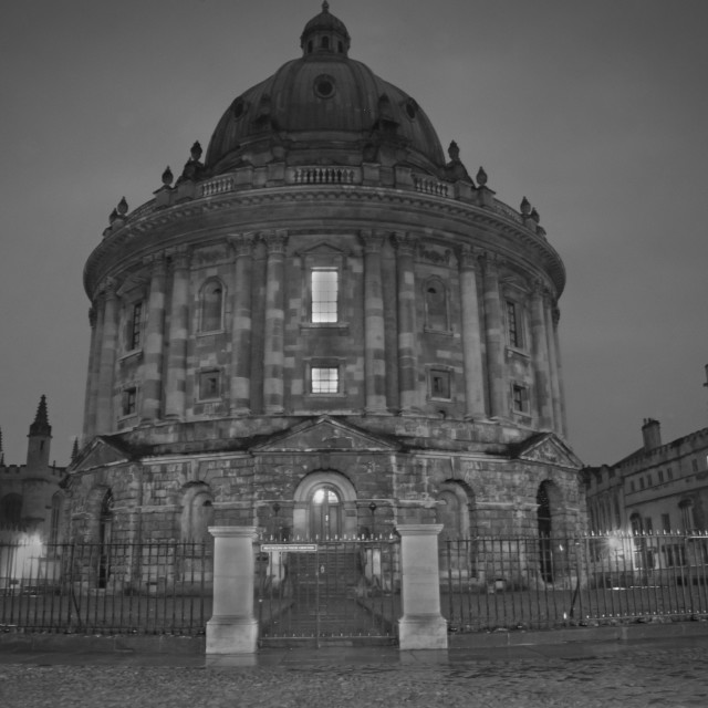 """""""Radcliffe Camera by night"""" stock image"""
