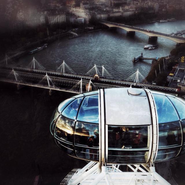 """London Eye pod"" stock image"