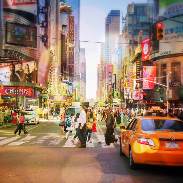 """42nd street in New York City"" stock image"