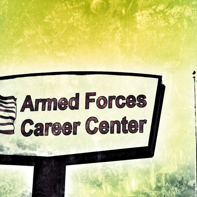 """Armed Forces Career Center"" stock image"