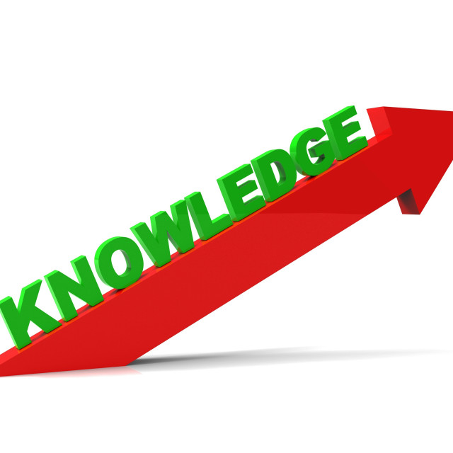 """Increase Knowledge Represents Growing Education And Arrow"" stock image"