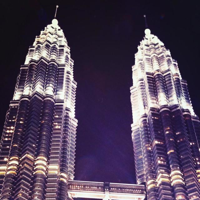 """Personas towers at night, Kuala Lumpur, Malaysia"" stock image"