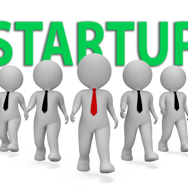 """Startup Businessmen Indicates Self Employed And Entrepreneur 3d Rendering"" stock image"