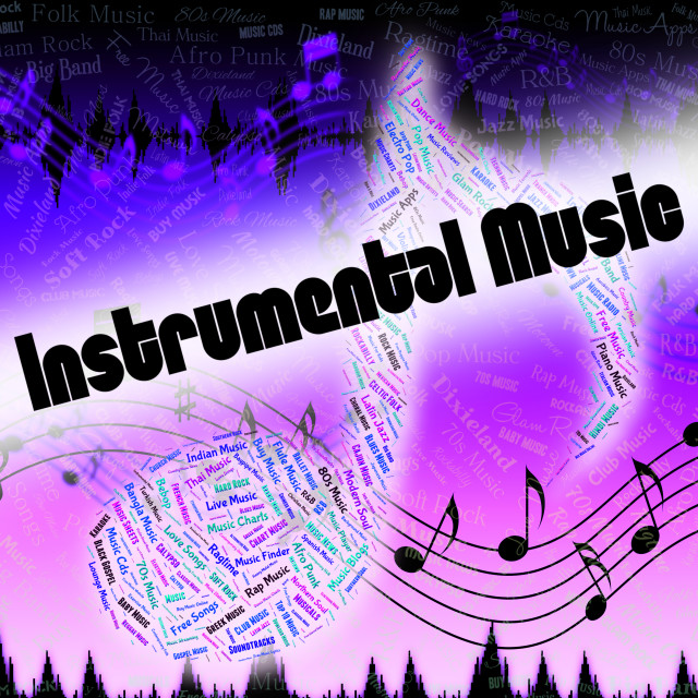 """Instrumental Music Indicates Musical Composition And Harmony"" stock image"