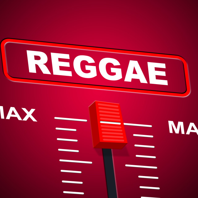 """Reggae Music Represents Sound Track And Ceiling"" stock image"