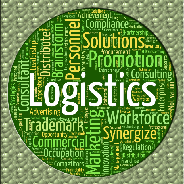 """Logistics Word Means Systemization Coordinate And Organized"" stock image"