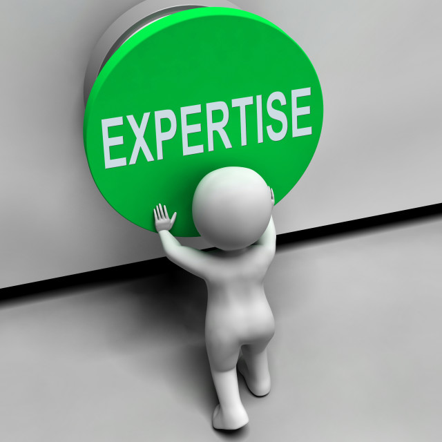 """Expertise Button Means Skilled Specialist And Proficiency"" stock image"