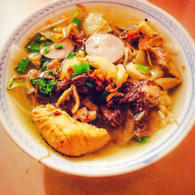 """Pontianak traditional meals kwee tiau noodles"" stock image"