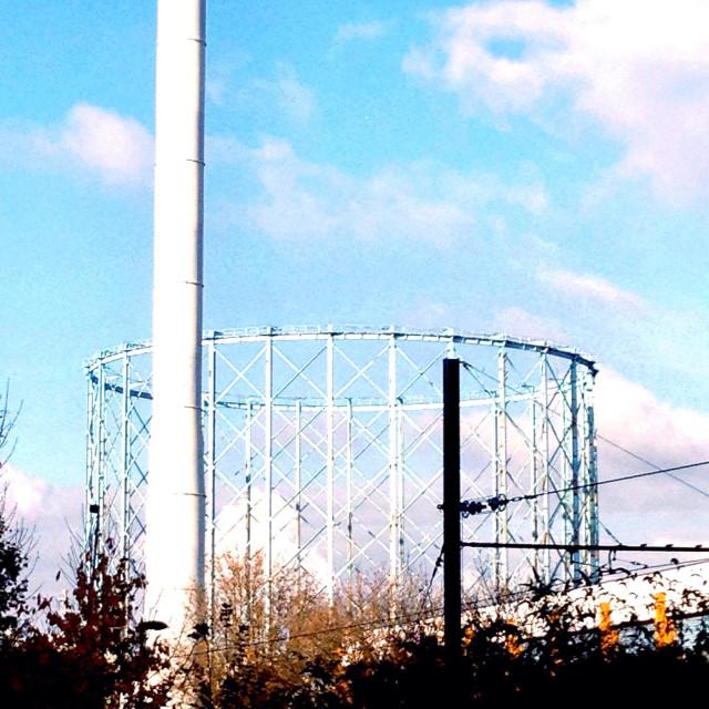 """""""Croydon Factory Lane and Energy Power Station, London, UK"""" stock image"""