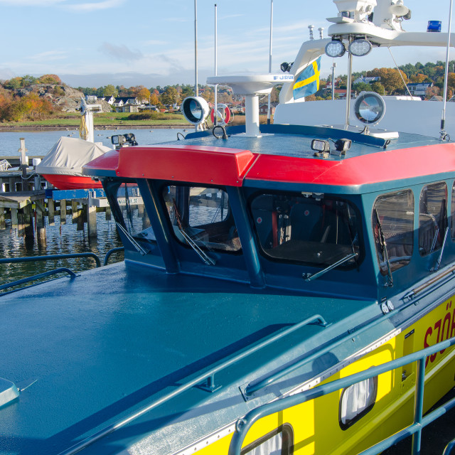 """""""the boat from sweden sea rescue"""" stock image"""