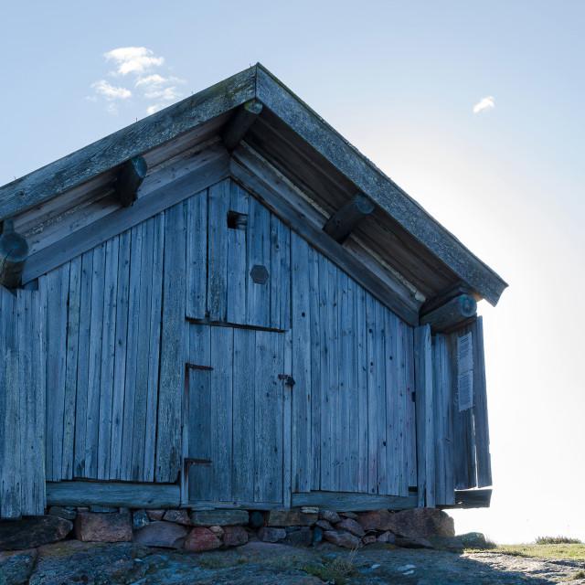 """very old boathouse"" stock image"