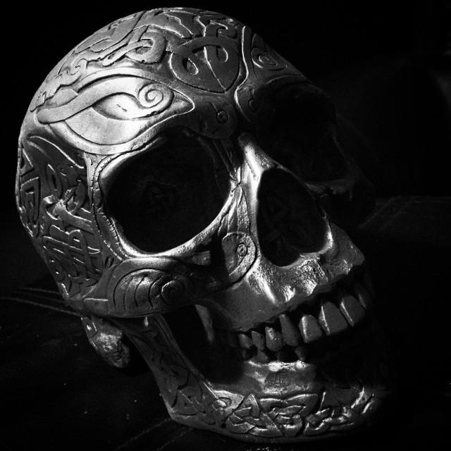 """""""Celtic skull"""" stock image"""