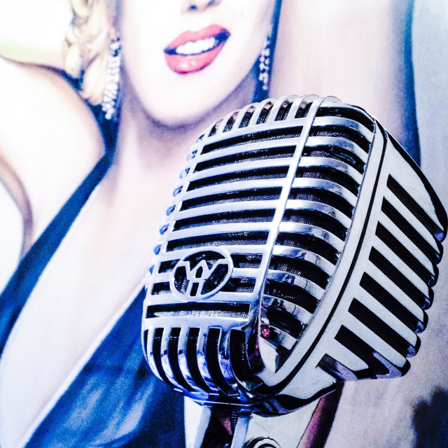 """Vintage 50's Microphone"" stock image"
