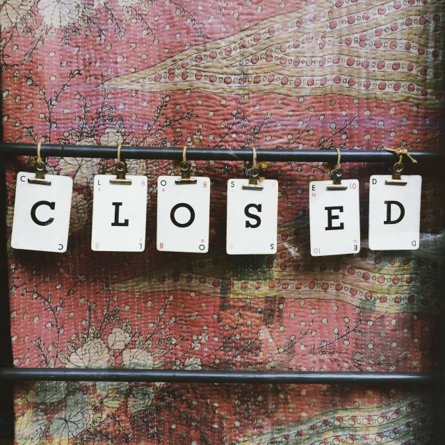 """""""Shop closed"""" stock image"""