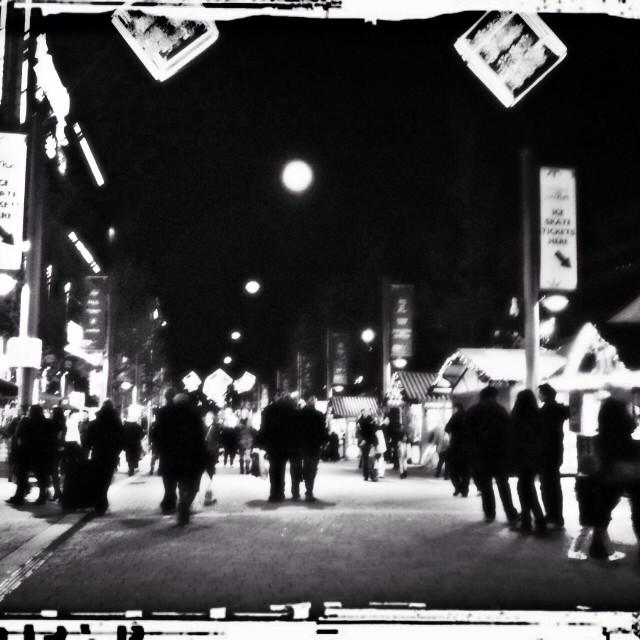 """""""Christmas market at night, Wembley, London, UK"""" stock image"""