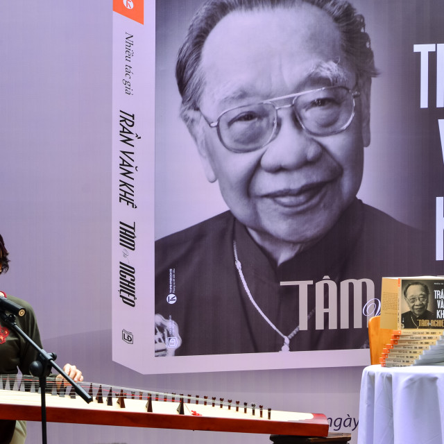 """Release the book about Tran Van Khe"" stock image"
