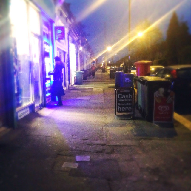 """""""Parade of shops at hither green"""" stock image"""