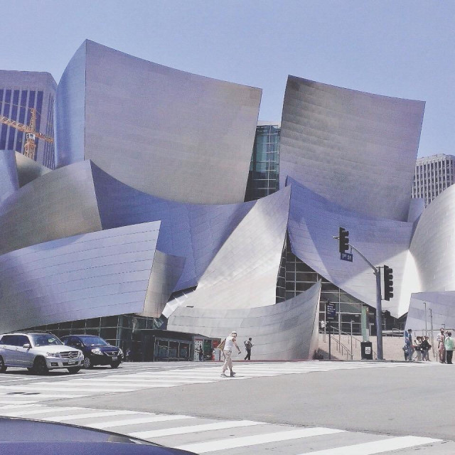 """The Walt Disney Music Center within the Los Angeles Music Center."" stock image"